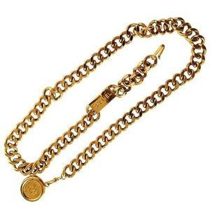 Vintage Chanel gold plated belt